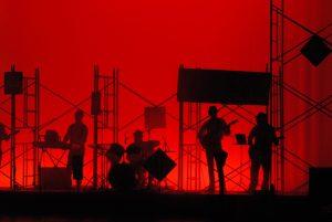 Drummers on O-2 Visa performing on stage