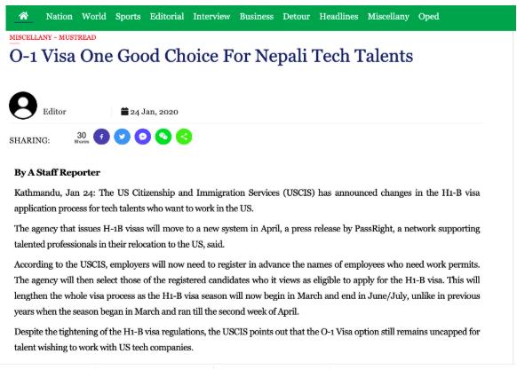 o-1 visa for tech